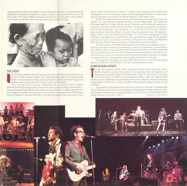 Concerts For The People Of Kampuchea Album 1981 -insert 2 of 2