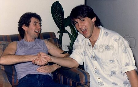 Mark Bowman Images- Cameron Crowe and Ronnie Lane 1985