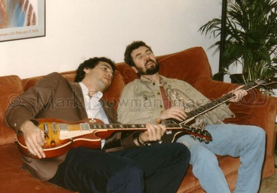 Mark Bowman Images- Ronnie Lane and Mark Bowman Houston August 17 1985 3