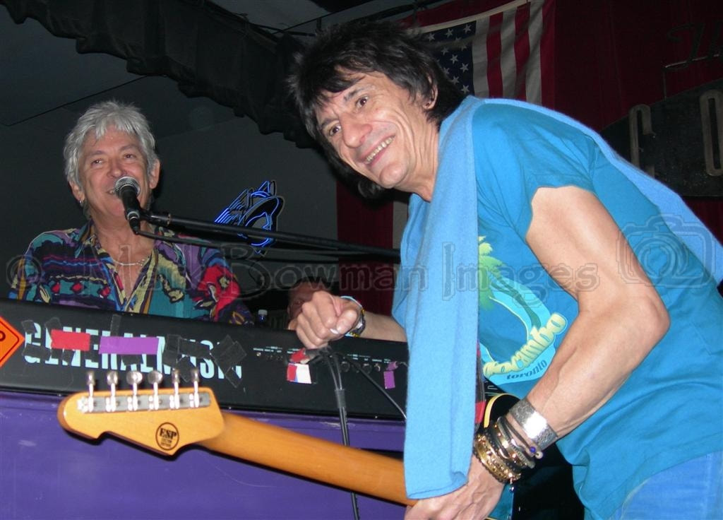 Mark Bowman Images- Ian McLagan and Ron Wood Houston 2006