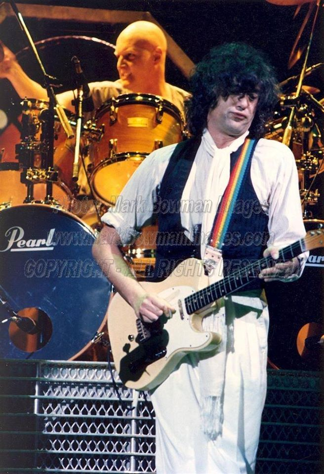 Jimmy Page and Chris Slade - THE FIRM Frank Erwin Center March 23 1985