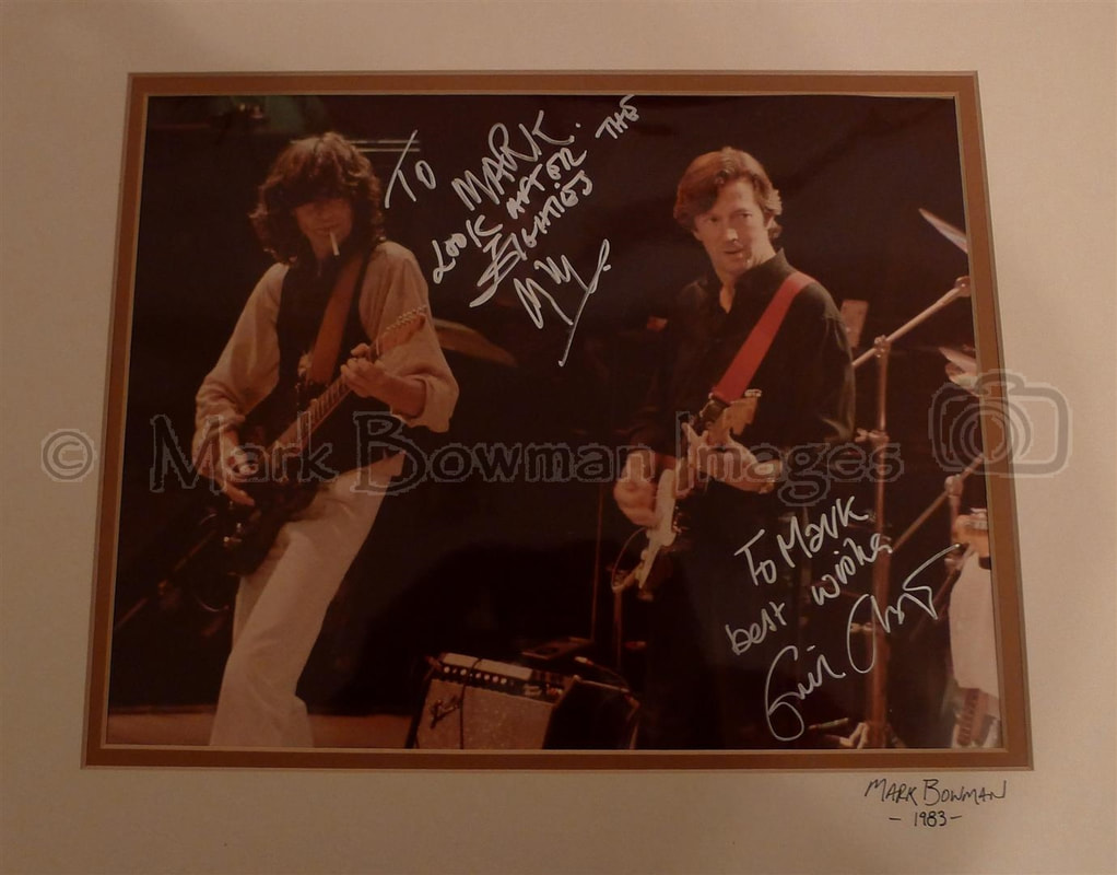 Mark Bowman Images- Jimmy Page Eric Clapton Nov 28 1983 Ronnie Lane ARMS Tour