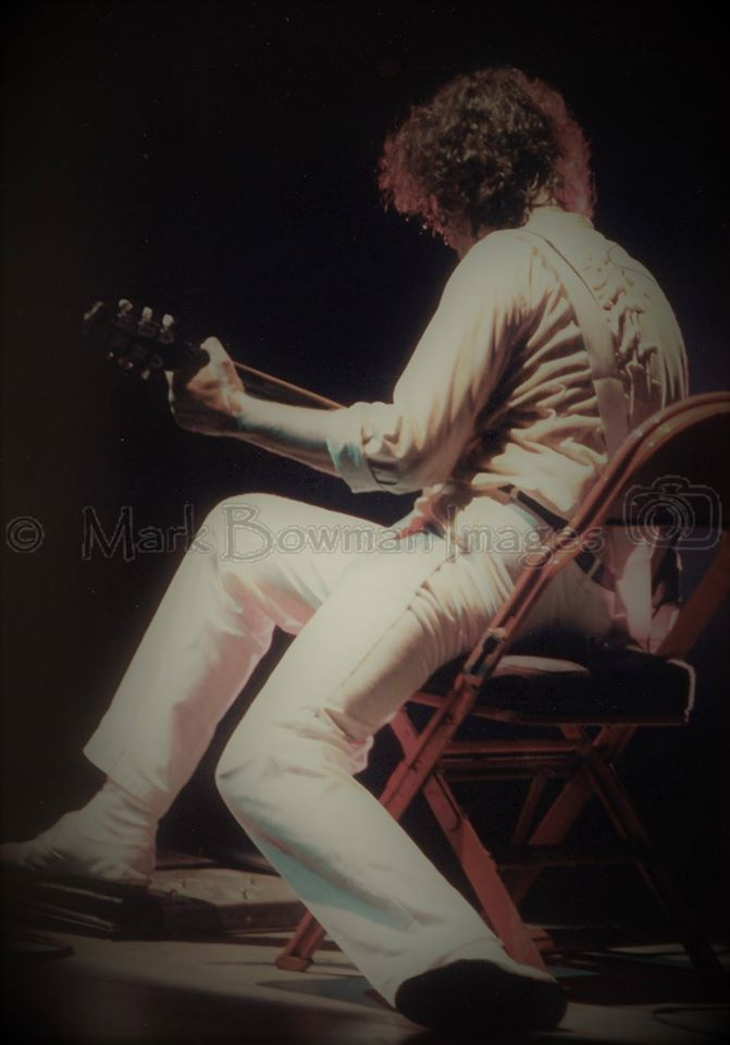 Mark Bowman Images- Jimmy Page on Danelectro THE FIRM - The Summit Houston Texas March 21 1985