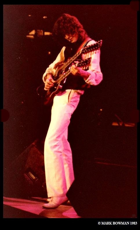 Mark Bowman Images- Jimmy Page on This Day Nov 28 1983 Ronnie Lane ARMS Tour 3