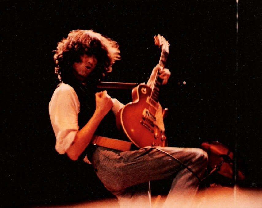 Mark Bowman Images- Jimmy Page on This Day Nov 28 1983 Ronnie Lane ARMS Tour 4