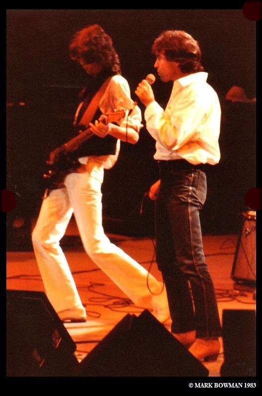 Mark Bowman Images- Jimmy Page Paul Rogers Nov 28 1983 Ronnie Lane ARMS Tour 2