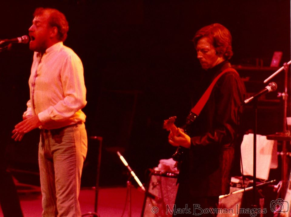 Mark Bowman Images- Joe Cocker and Eric Clapton Ronnie Lane ARMS Dallas TX November 1983