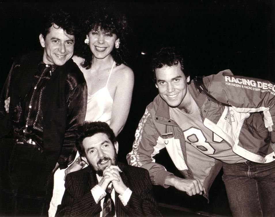 Joe Ely, Theresa DiMenno, Mark Bowman and Ronnie Lane - Houston 1986