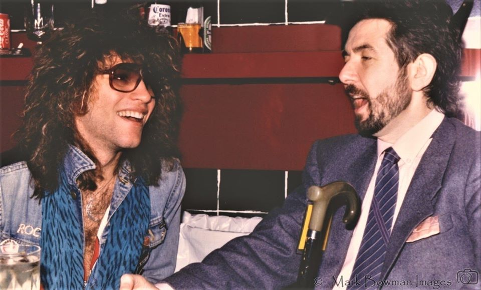 Jon Bon Jovi and Ronnie Lane Houston - 1986