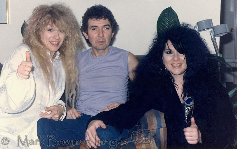 Mark Bowman Images - Nancy Wilson Ronnie Lane and Ann Wilson Houston August 17 1985 2