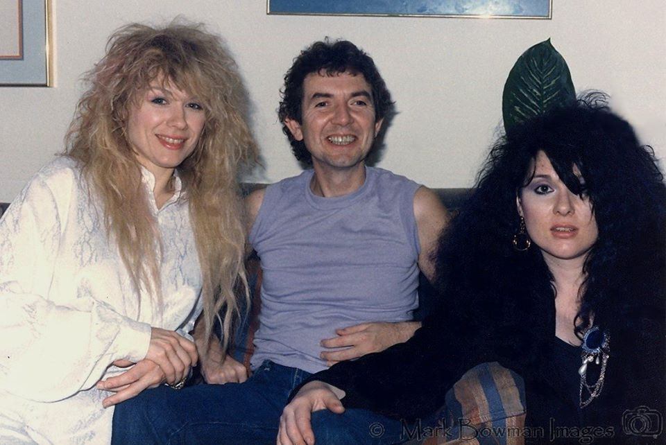 Mark Bowman Images - Nancy Wilson Ronnie Lane and Ann Wilson Houston August 17 1985