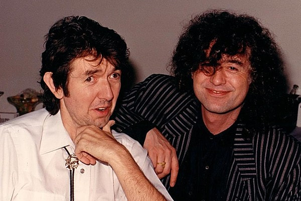 Mark Bowman Images- Ronnie Lane and Jimmy Page September 14 1988- Ultimate Classic Rock Pic of the Week