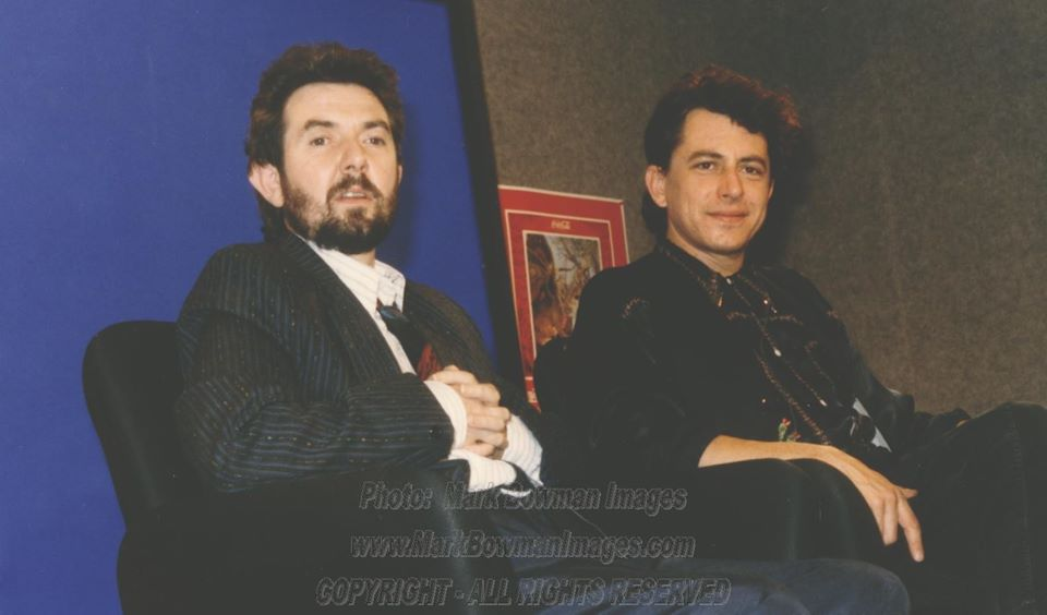 Ronnie Lane  and Joe Ely ​Taping a television show in Houston - 1986