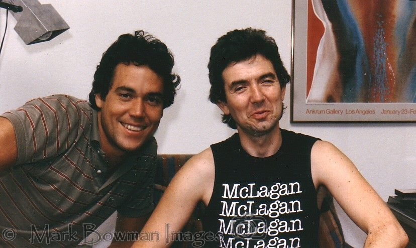 Mark Bowman Images- Ronnie Lane and Mark Bowman Houston 1985- Ian McLagan shirt