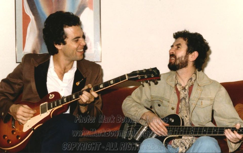 Mark Bowman Images- Ronnie Lane and Mark Bowman Houston August 17 1985 4