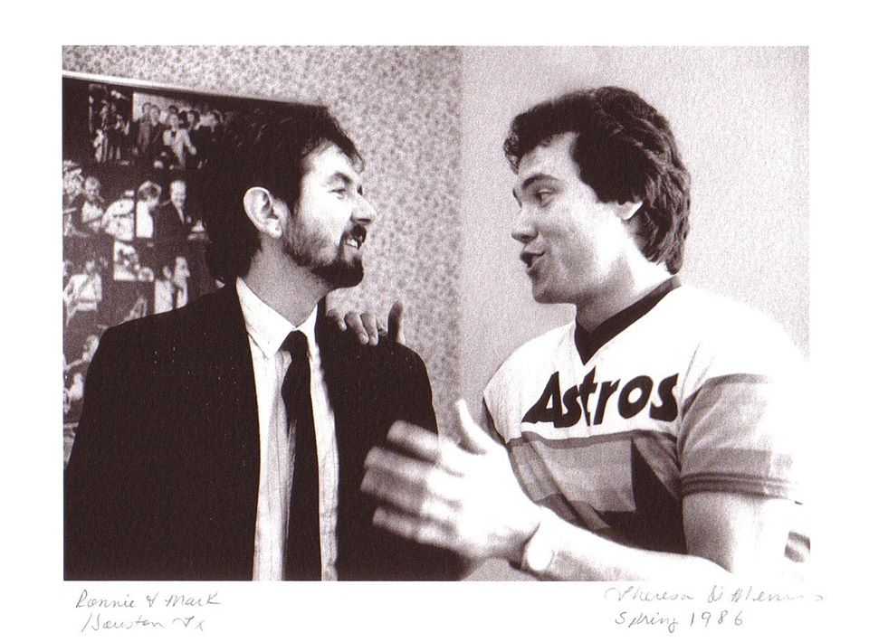 Mark Bowman Images- Ronnie Lane and Mark Bowman - Ronnie Lane Last Night in Houston and Move to Austin April 1986 3