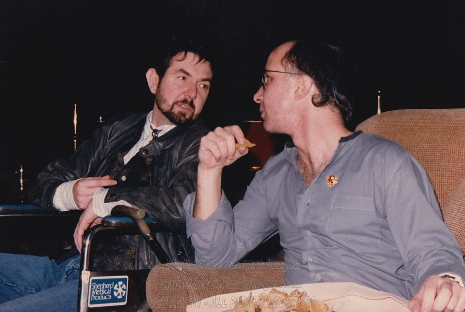 Mark Bowman Images - Ronnie Lane and  Paul Shaffer Houston 1986