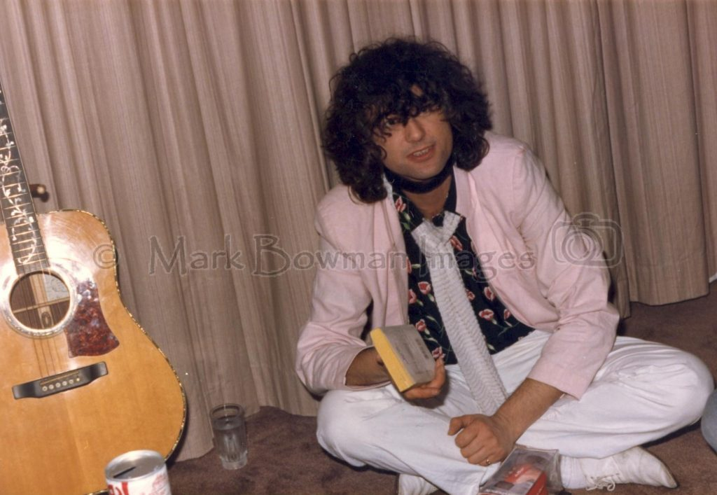 Mark Bowman Images- Ronnie Lane Party Jimmy Page March 23 1985 2