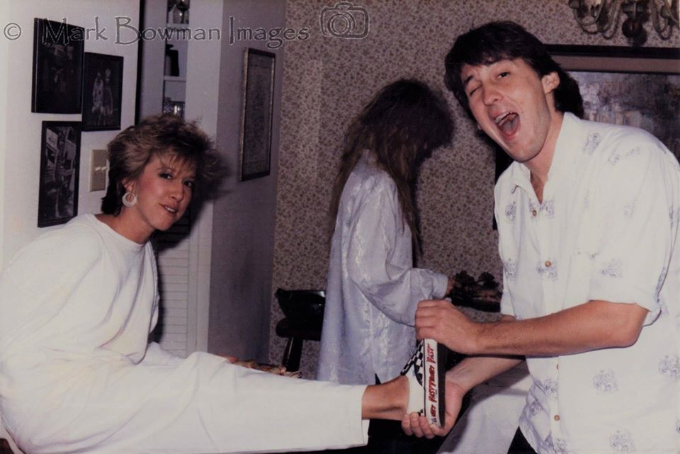 Mark Bowman Images- Ronnie Lanes Party Houston DJ Dayna Steele Cameron Crowe Nancy Wilson 1985