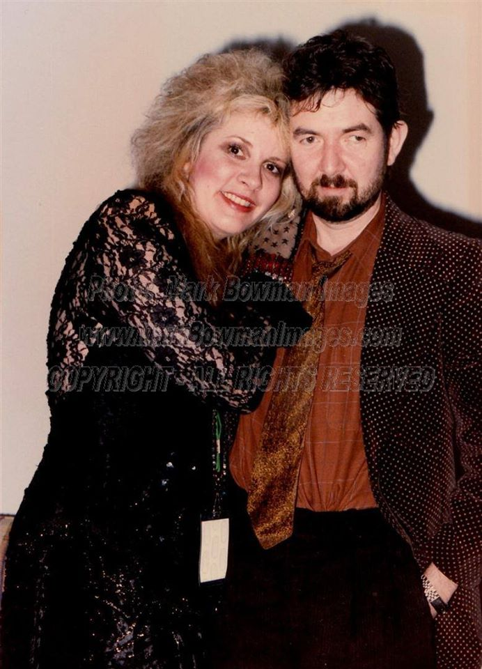 Mark Bowman Photography- Stevie Nicks and Ronnie Lane 1986- full