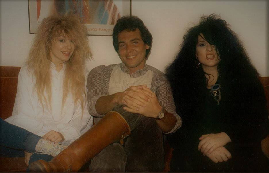 Mark Bowman with Nancy and Ann Wilson Houston August 1985 2
