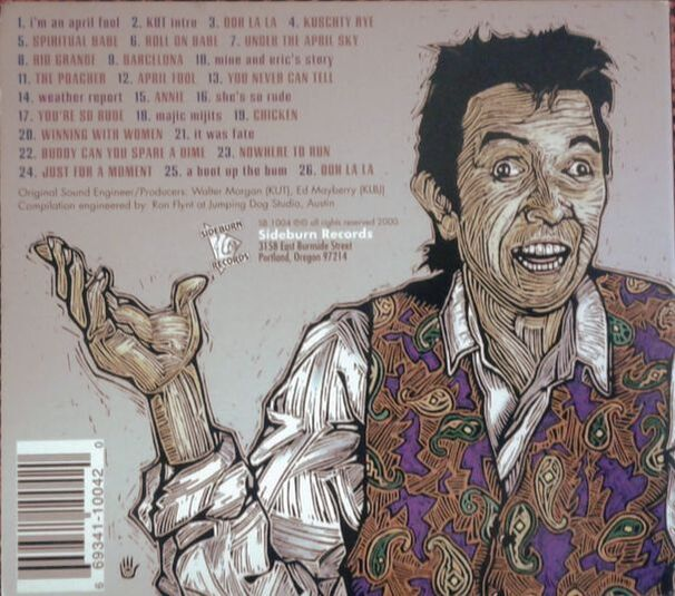 Ronnie Lane Live In Austin CD back cover