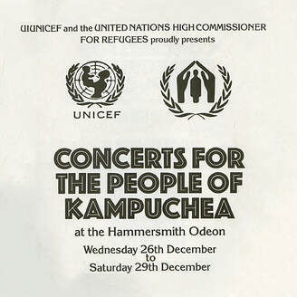 Concerts For The People Of Kampuchea 1981 -UN UNICEF Announcement