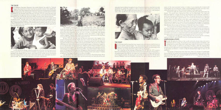 Concerts For The People Of Kampuchea Album 1981 -full insert