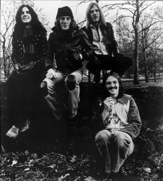 Humble Pie -1974, Left to right: Jerry Shirley, Greg Ridley, Clem Clempson, Steve Marriott