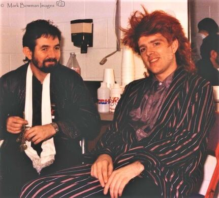 Mark Bowman Images- Ronnie Lane with Tom Bailey of The Thompson Twins Dallas Texas 1986