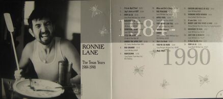 Ronnie Lane - Live in Austin - Inside Cover CD Booklet