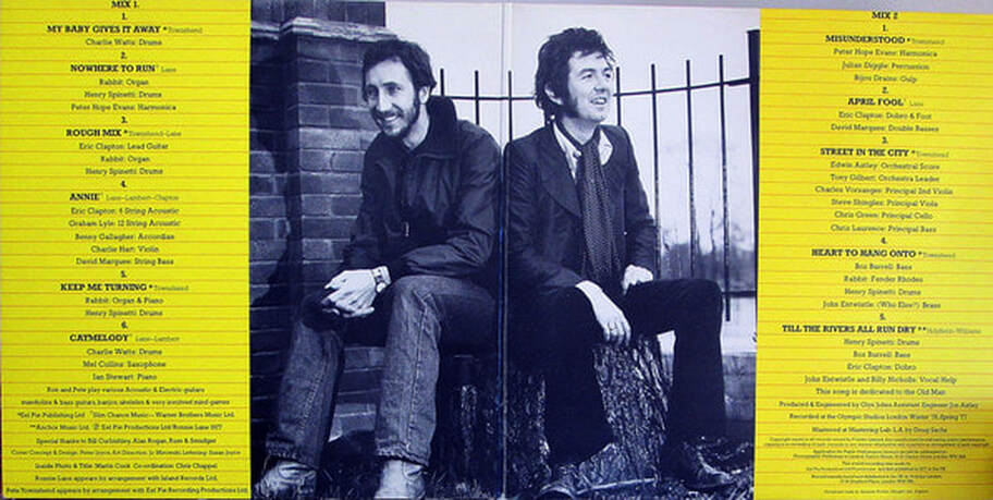 Ronnie Lane and Pete Townshend Rough Mix Album 1977 -inside