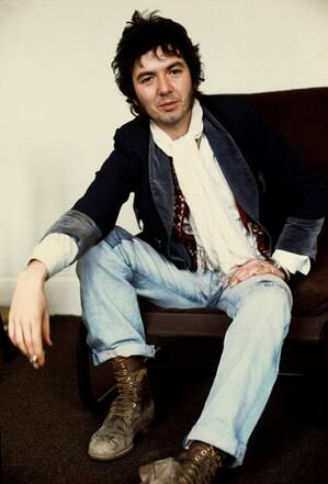 Ronnie Lane - London 1974 after his first solo album Photo Torbjörn Calvero Sweden