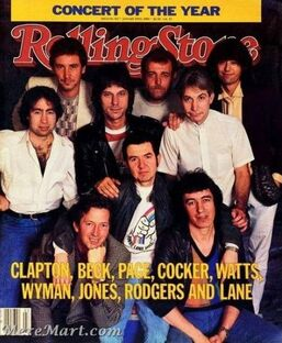 Ronnie Lane ARMS Benefit Concerts - Rolling Stone Concert of the Year 1983 -Cover 2