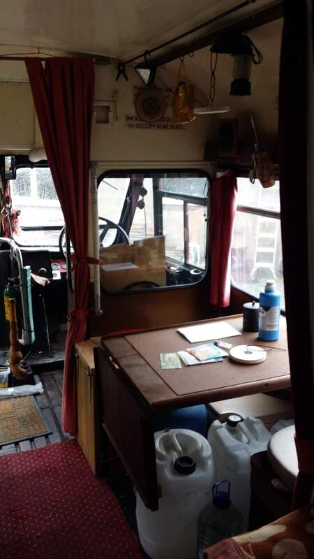 Ronnie Lane The Red Passing Show Tour Bus -Interior