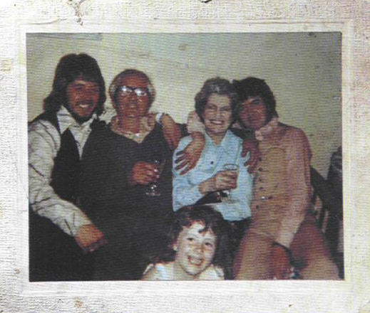 Rare photo of Ronnie Lane with his mother and family.