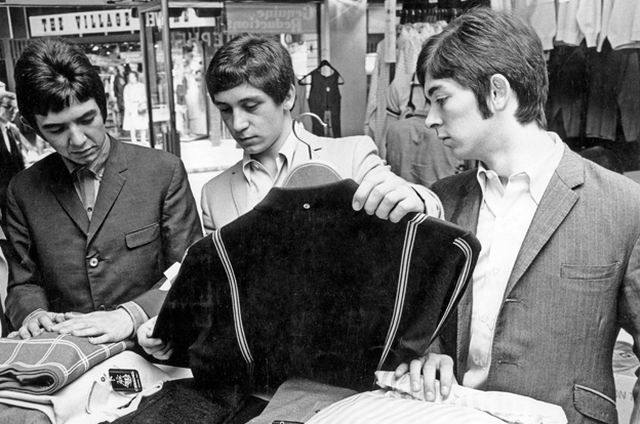 Small Faces - Shopping on Carnaby Street 1966 BW -photo credit: Pictorial Press LtdAlamy
