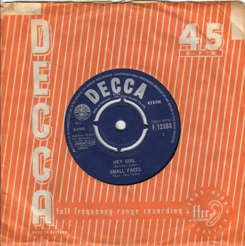 Small Faces Single - Hey Girl 1966 UK